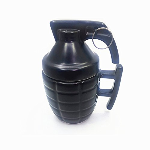 wenquan-cups,Creativa forma de cerámica taza de Granada.(color:Black,size:1PC)