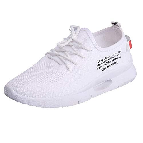 JiaMeng weiße Damen Sneaker Damen Freizeit Brief Runde -