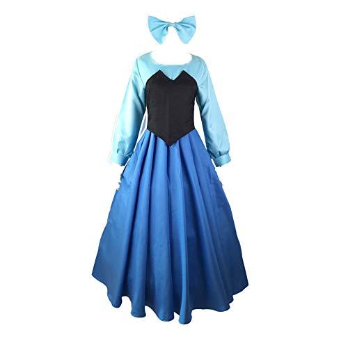 Fanstyle Die kleine Meerjungfrau Kleid Anime Kostüm Weste Bogen Kopfschmuck Cosplay Ariel Prinzessin Kleid 3st ... (Ariel Prinzessin Kleid Kostüme)
