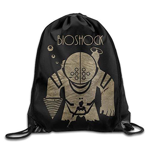 Dhrenvn Bio Shock First-Person Shooter Video GameTravel Backpack for Teens College Drawstring Bag Backpack