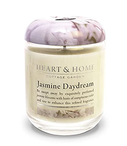 Heart & Home Large Glass Jasmine Daydream Candle