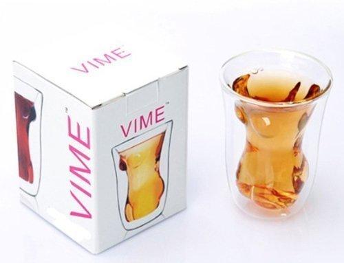 sexy Frauenkörper Trinkglas