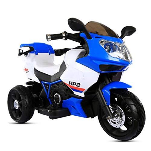 Moni Trade Ltd. Kinder Elektromotorrad HP2 FB-6187, mit Musikfunktion, Spielzeugkorb, ab 3 Jahre blau