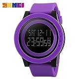EnjoyUnique 2016Neue Marke sockenuhr Herren Militär Sport Uhren Mode Wasserdichte Silikon LED Digital Uhr für Herren Uhr Digital-Watch, Violett