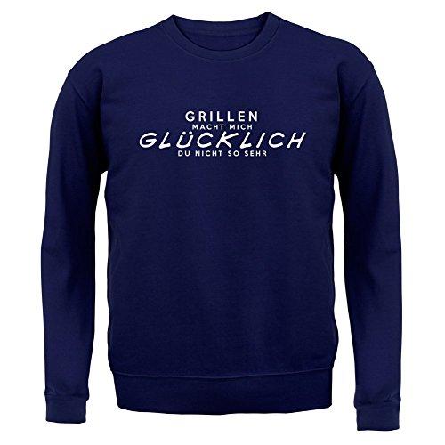 Grillen macht mich glücklich - Unisex Pullover/Sweatshirt - 8 Farben Navy