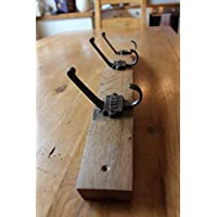 Hand Crafted Scotch Whisky Barrel Coat Hook Rack, made with GNER hooks.
