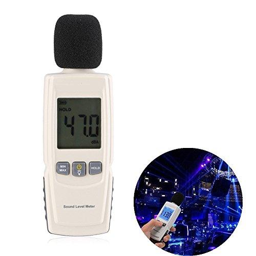 SONOMETRO DIGITAL  ZOGIN MEDIDOR DECIBELIOS DEL RUIDO PORTATIL CON RETROILUMINACION LCD  RANGO DE MEDICION 30 ~ 130 DBA  INCLUYE 3PCS AAA BATERIA