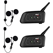 EJEAS V6 Pro BT Interphone 1200M Bluetooth Motocicleta Motocicleta Casco Intercom Auriculares con Interfono Duplex Control