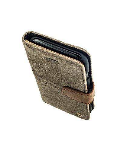 QIOTTI >             Apple iPhone 6 / 6S (4,7&quot;)             < incl. PANZERGLAS H9 HD+ Geschenbox Booklet Wallet Case Hülle Premium Tasche aus echtem Leder mit Kartenfächer. Edel verpackt incl. Stoffbeutel. RAW KOLLEKTION in  PETROL