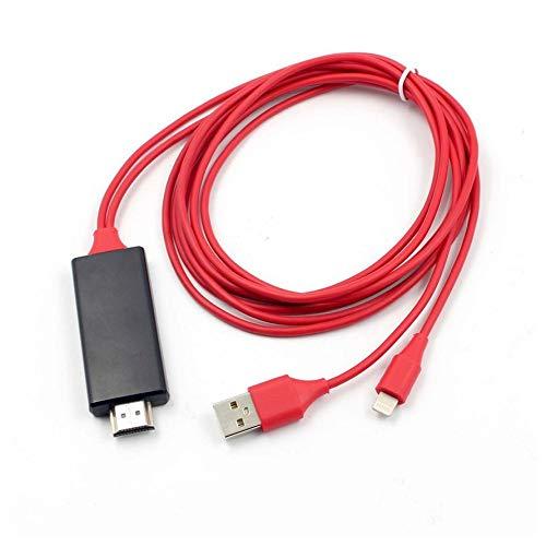 HoganeyVan 1,8 mt Telefon Tablet zu hdmi tv av Adapter Kabel 1080 p 2 Karat hd Schnur Spiel Film liefert für ipad für iPhone Plug & Play