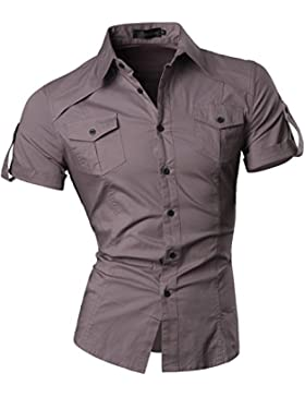 [Patrocinado]FIND Camisa de Cuadros de Manga Larga para Hombre