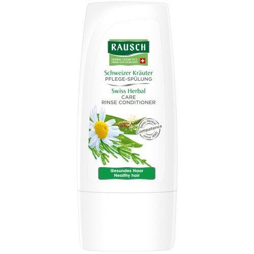 Rausch Schweizer Kräuter Pflege-Spülung (entwirrt sofort, ideale Kämmbarkeit, Geschmeidigkeit und Glanz - Vegan), 4er Pack (4 x 30 ml)