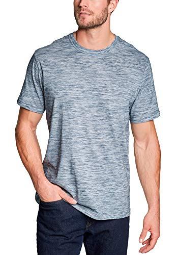 Eddie Bauer Herren Legend Wash Pro Shirt - Kurzarm - Space Dye, Gr. XXL, Baltisches Blau