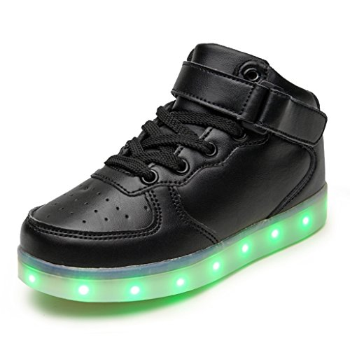 Led Chaussure Lumineuse - Enfant Gar?on Fille - USB Rechargeable - DoGeek Noir