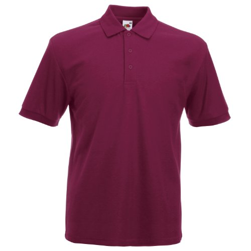 fruit-of-the-loom-polo-homme-rouge-bordeaux-taille-xxxl