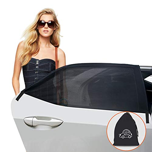Minlux - Parasol para Coche y bebé (Juego de 2) Parasol para Coche para niños con protección UV para Ventanas Laterales sin Ventosa Bolsa de Almacenamiento Adecuada para la mayoría de los Coches