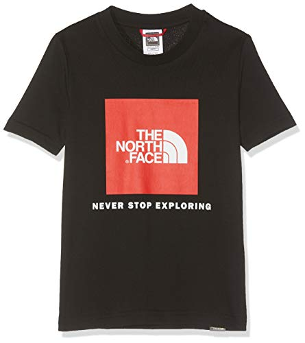 THE NORTH FACE Jungen Youth Box T-Shirt, TNF Black/Fiery Red, L