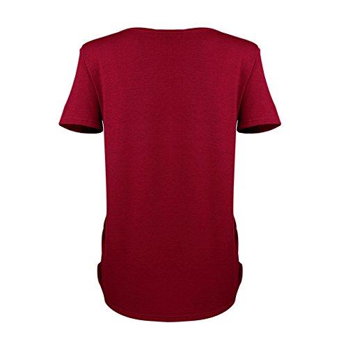 MEIHAOWEI Baby Reißverschluss gedruckt T-Shirt Schwangerschaft schwanger Mutterschaft T-Shirts rot XL (Shirts Mutterschaft Lustige)