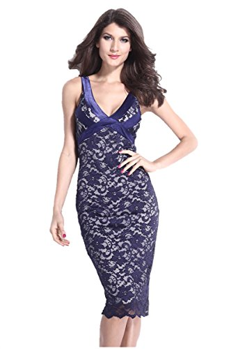 E-Girl femme Bleu SY6594-2 robe de cocktail Bleu