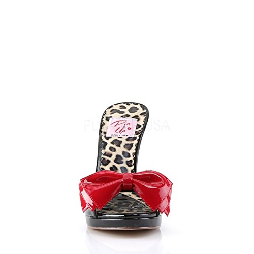 Pin Up Couture Siren-06, Scarpe con plateau Donna Blk-Red Pat