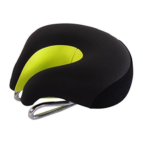 Sport Tent Fahrrad Sattel Sitz ohne Nase MTB Mountain mit higher Elastische Fahrrad Sitze Komfortable Ergonomische Radfahren Pad Kissen (Schwarz/grün)