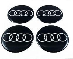 4 x 75 mm Sticker Logo Emblem Rims Sticker for Audi