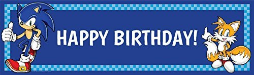 Sonic the Hedgehog Party Supplies - VINYL Geburtstag Banner 45,7 x 154,9 cm