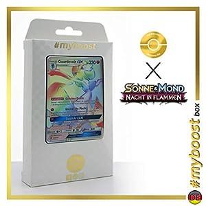 Guardevoir-GX 159/147 Arcoíris Secreta - #myboost X Sonne & Mond 3 Nacht in Flammen - Box de 10 Cartas Pokémon Aleman