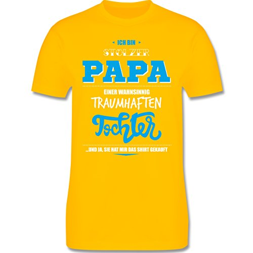 Vatertag - Ich bin stolzer Papa einer wahnsinnig traumhaften Tochter - Herren Premium T-Shirt Gelb