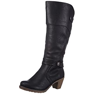 Rieker 91552 Damen Langschaft Stiefel, schwarz (schwarz/00), 36