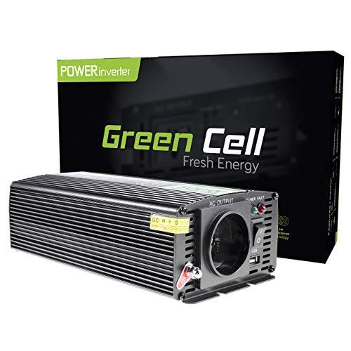 Green Cell® 500W Spannungswandler Wechselrichter DC 12V auf AC 230V Inverter für Auto inkl. Stecker für Kfz-Zigarettenanzünder mit USB-Ladeanschluss und Direktanschluss an Autobatterie