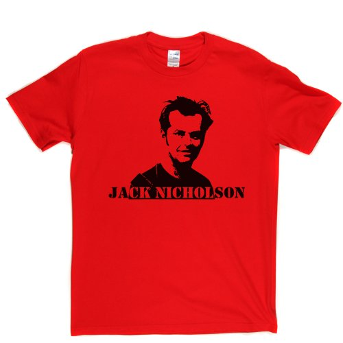 Jack Nicholson Iconic TV Film Star Johnny T-shirt Rot