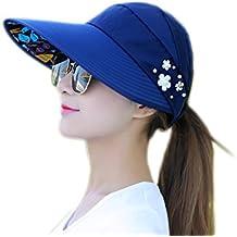 Vi.yo Sombrero de viaje al aire libre Mujeres plegable de ala ancha visera Cap UV Sun protector