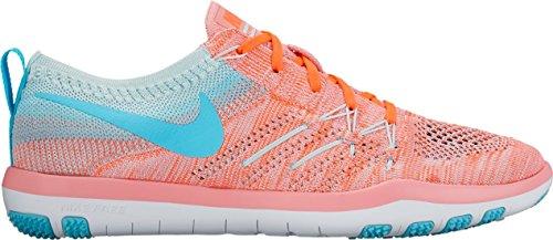 Nike W Nike Free Tr Focus Flyknit - bright melon/polarized blue-gl, Größe:6