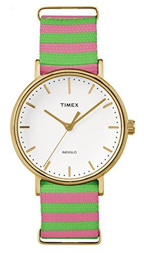 Timex Damen Datum klassisch Quarz Uhr mit Nylon Armband TW2P91800