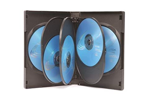 10 x Black 8 Way DVD Cases