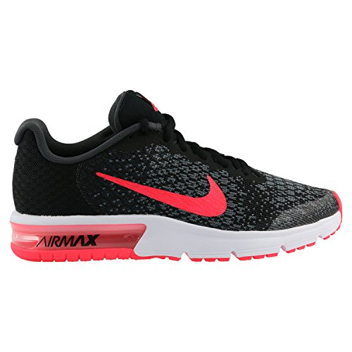 Nike Damen Kinder Air Max Sequent 2 Laufschuhe Mehrfarbig (Black/Racer Pink/Anthracite/Cool Grey 005) 38 EU