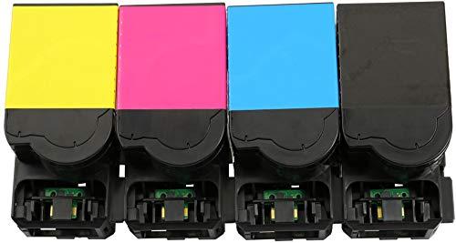 TONER EXPERTE® 702H 4 Toner kompatibel für Lexmark CS310dn CS310n CS410dn CS410dtn CS410n CS510de CS510dte (Schwarz: 4000 & Cyan, Magenta, Gelb: 3000 Seiten) - 3000 Gelb Toner
