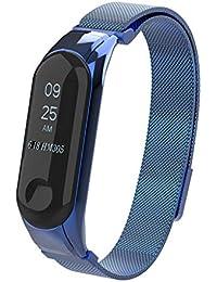❀para el Reloj Xiaomi Mi Band 3, Pulsera de Metal con Correa magnética milanesa