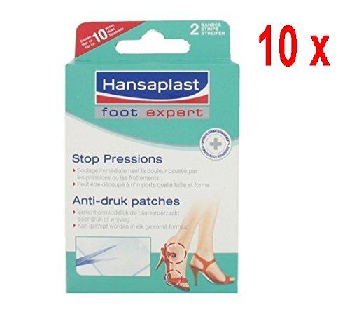 10 x Hansaplast Anti-Druck-Patches, die Pflege der Füße - 2 Streifen