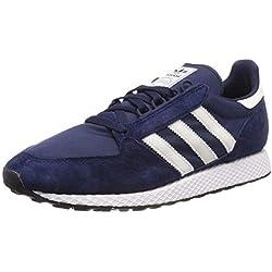 adidas Forest Grove Zapatillas de Gimnasia Hombre, Azul (Collegiate Navy/Cloud White/Core Black Collegiate Navy/Cloud White/Core Black), 41 1/3 EU (7.5 UK)