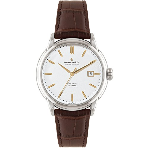 Dreyfuss & Co DGS00075 – 02 – Wristwatch men's, stainless steel strap brown