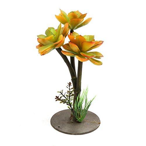 DealMux plástico Hojas terrario de la planta del ornamento Decoración para reptiles y anfibios