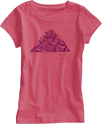 Burton-Maglietta da bambina Peak e maniche corte, Bambina, T-Shirt Peak Short Sleeve, Tropic, S