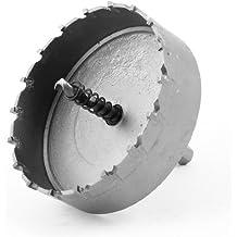 Filo en forma de triángulo y 6 mm Brocas en espiral de 90 mm de diámetro de corona de acero inoxidable