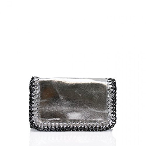 Craze London - Pochette unisex bambino donna Metalic Silver Amazon Comprar Barato p0ewy