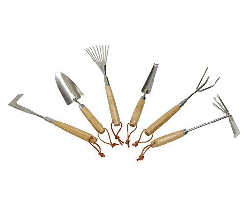 Dehner Blumenkelle mit Holzgriff, Länge 33.5 cm, Holz/Edelstahl