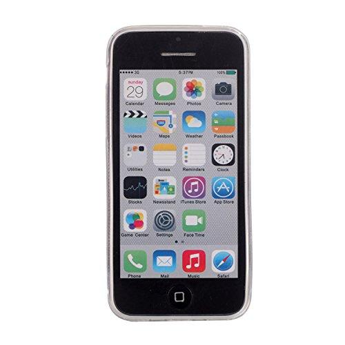 MOONCASE Ultra-thin TPU Silicone Housse Coque Etui Gel Case Cover Pour iPhone 5C Argenté JauneVoiletRouge