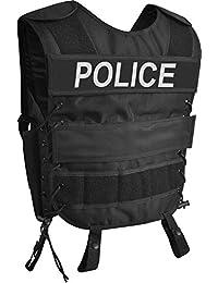 Taktische SWAT Weste mit Pistolenholster und abnehmbarem Schriftzug auf dem Rücken