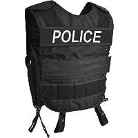 normani Taktische SWAT Weste mit Pistolenholster und abnehmbarem Schriftzug auf dem Rücken